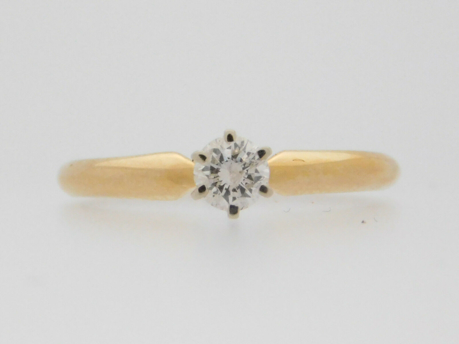 0.25 CARAT ROUND CUT DIAMOND SOLITAIRE ENGAGEMENT RING 14K YELLOW gold
