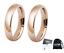 Coppia-Fedine-4mm-Acciaio-Color-Oro-Rosa-semplici-con-incisione-int-fidanzamento miniatura 1