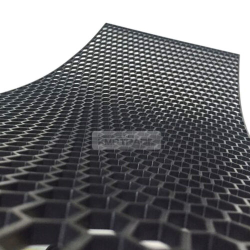 "5/_Black Honeycomb Hexagon Mesh ABS Grille Fog Custom DIY Kit 43/""x15/"" for Renault"