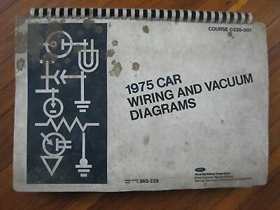 1975 Ford Mercury Lincoln Wiring Vacuum Diagrams Mustang ...