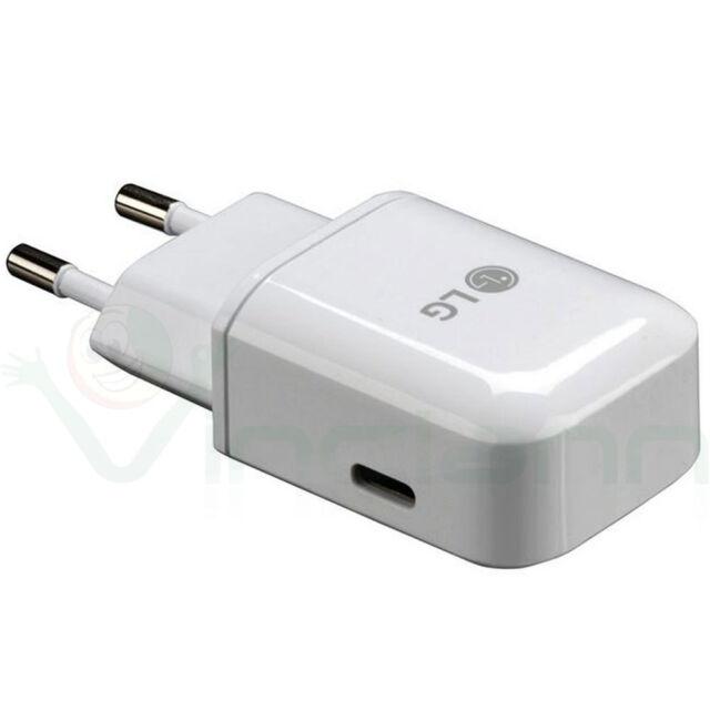 Caricabatterie USB Type C MCS-N04ER ORIGINALE LG alimentatore fast charging