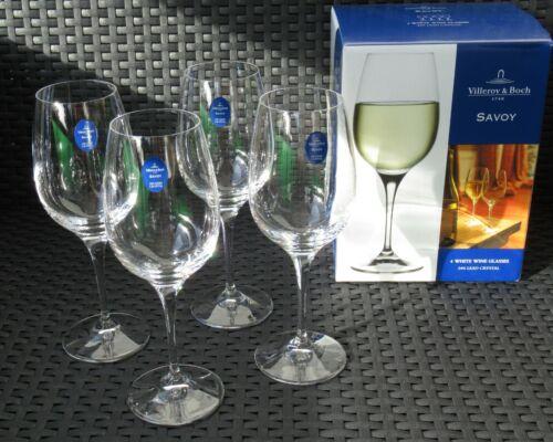 """Weißwein Gläser /""""Villeroy /& Boch/"""" 24/% Bleikristall Weinglas NEU /""""Savoy/"""" 4 St"""