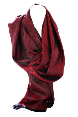 Silk Feel Paisley Print Wrap Scarf Stole Shawl Hijab Head Scarves