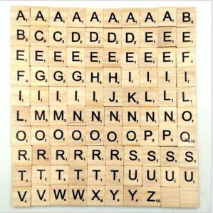 100 de madera scrabble azulejos negro letras del abecedario n meros board artesan as madera - Letras scrabble madera ...