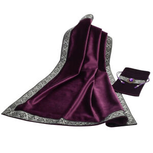 Classic-Altar-Tarot-Card-Bag-Tablecloth-Divination-Wicca-Velvet-Purple