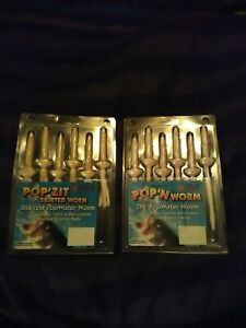 2 Packs Indian Lure Company Pop'N Topwater And Pop'Zit Skirted Topwater Worms