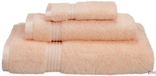 Hand Face Towel Set 3-pc Peach Superior 600 GSM Long Staple Cotton Bath