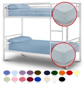Easy Care Plain Dyed Bunk Bed Fitted Sheet 2 Foot 6 Inch Small 75cm