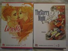 New Manhwa Novella Collection Lie to Me Vol 1 & The Starry Night Kimjin Vol 3