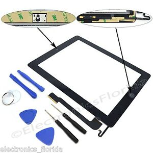 Replacement-Digitizer-Touch-Screen-Glass-For-the-ipad-4-4th-black-Tools-Adhesive