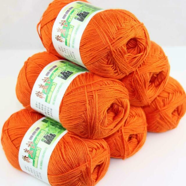 Sale Lot 6skeinsx50g Super Soft Bamboo Cotton Baby Hand Knitting Crochet Yarn 06