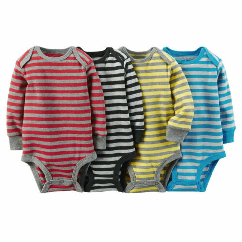 New 3 4 5-Pack Baby Boy/'s /& Girl/'s  Bebe 100/% Cotton Bodysuits Clothing Set