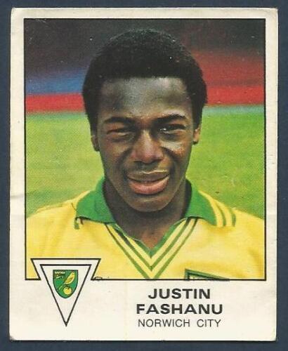 PANINI FOOTBALL 80 #271-NORWICH CITY-JUSTIN FASHANU
