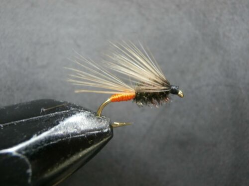 aho-39 3 Drowned flea Butane and BLACK for Fly Fishing