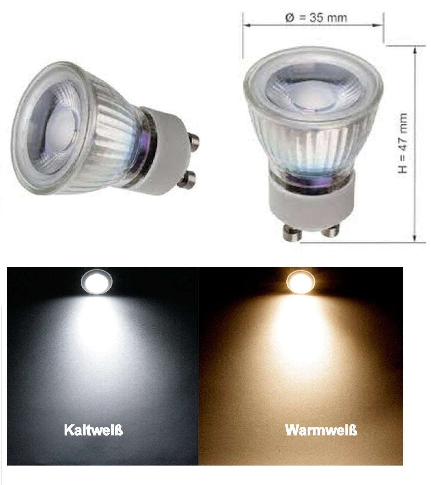3Watt = 25 Watt LED COB MR11 230Volt GU10 Leuchtmittel EEK: A+ Reflektor 35mm