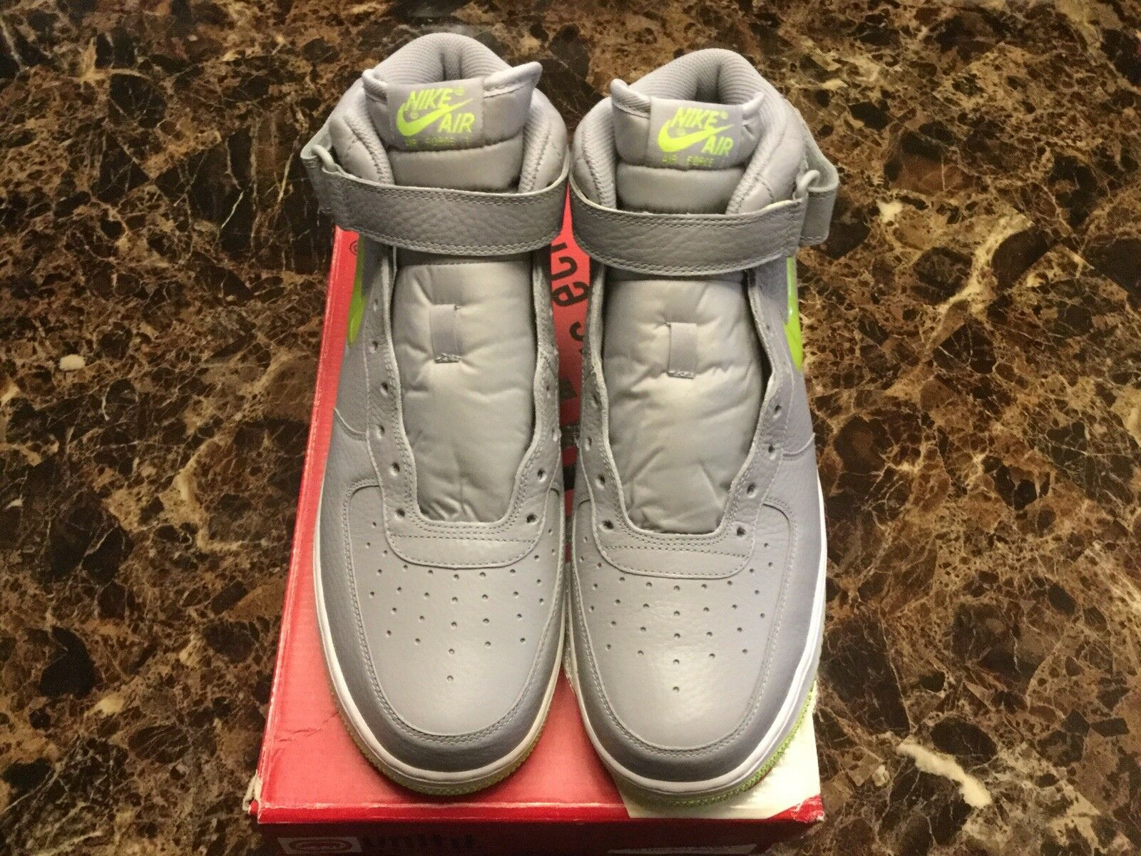Nike Air Force 1 Mid '07 Jewel NYC Wolf Grey & Volt Size 12 Brand New RARE
