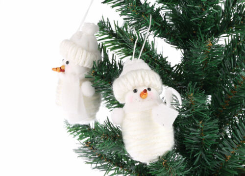 CraftbuddyUS Handmade Snowman Xmas Tree Decoration Ornament Figurine Fabric Gift