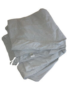 L L Bean Queen Comforter Bed Cover Heather Grey Flannel Bedding 88x96 In Ebay