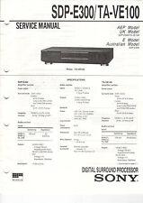 SONY Service Manual SDP-E300/TA-VE100 - B2022
