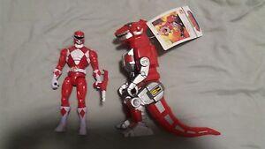 Puissant Morphin Power Rangers / Zyuranger Ranger Rouge Tyrannosaure Dinozord Vinyle