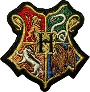 Image Is Loading Harry Potter Hogwarts Houses Logo  Embroidered Patch Quidditch