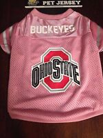 Ohio State Buckeyes Ncaa Licensed Pink Dog Football Jersey Free Ship L M