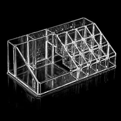 Clear Acrylic Desk Cosmetic Makeup Holder Lipstick Nail Varnish Organiser - By