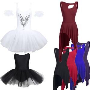 Women-Adult-Ballet-Dress-Tutu-Stage-Skirt-Dance-Dress-Leotard-Dancewear-Costume