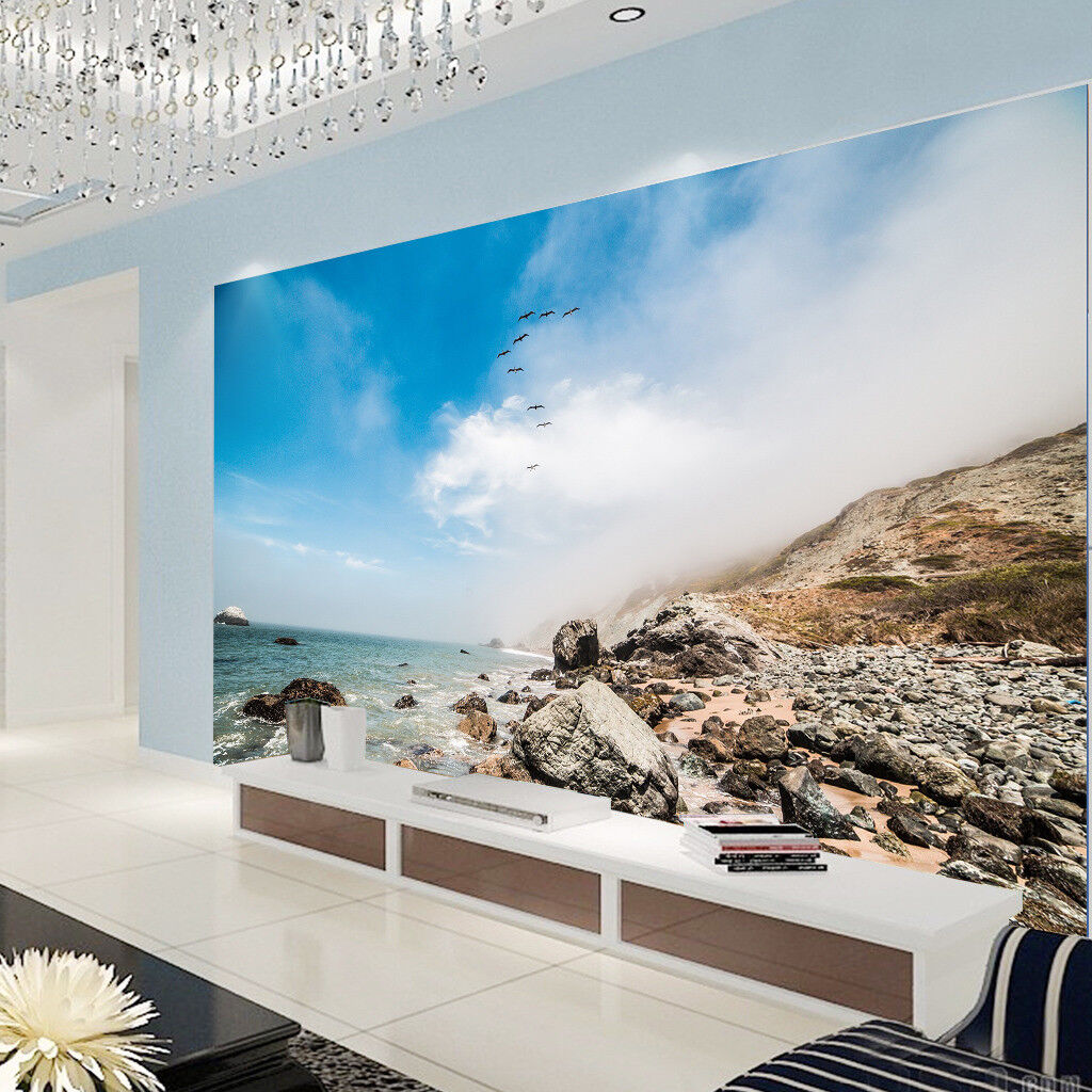 3D Stones Ocean Sky 84 Wall Paper Murals Wall Print Wall Wallpaper Mural AU Kyra