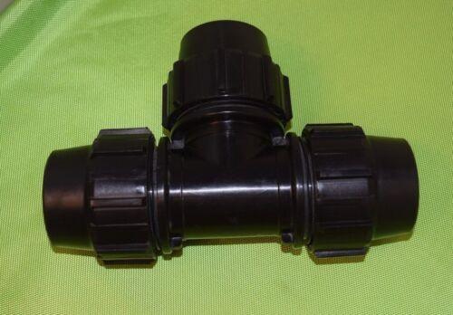 Elysee PE Fitting T-Stück  40 x 40 x 40 mm  Trinkwasser PN16 DVGW 864