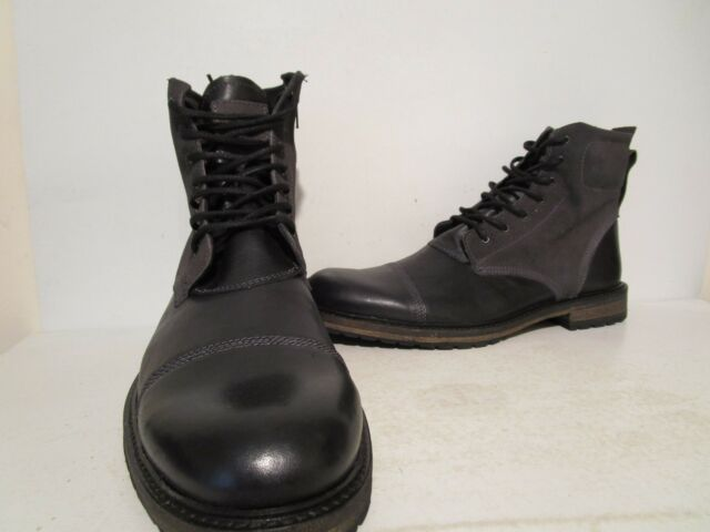 b260374fafa GBX Men's Trax Boot 13 M Black Pull up Leather/suede