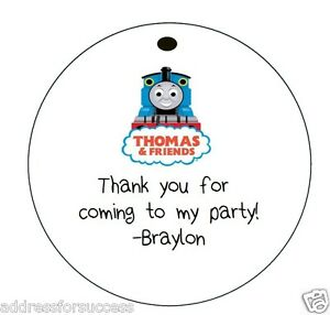 thomas and friends 12 personalized hanging favor round gift tags ebay