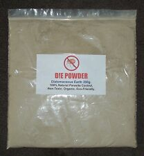 D!E POWDER DIATOMACEOUS EARTH 200g BAG ORGANIC WORMER/RED MITE/FLEA/LICE/LOUSE