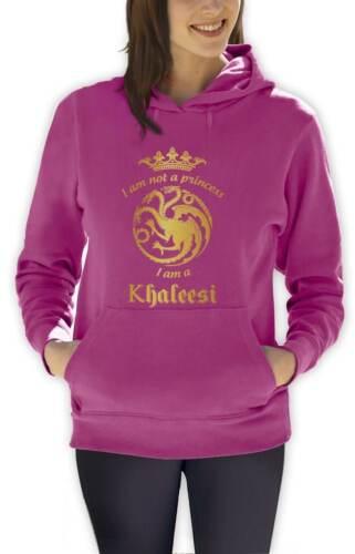 I/'m Not A Princess I/'m A Khaleesi Women Hoodie GOT Gold inspired Hooded Top