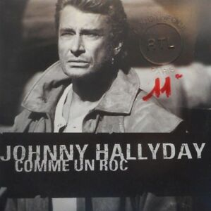 JOHNNY-HALLYDAY-COMME-UN-ROC-PROMO-CD-SINGLE