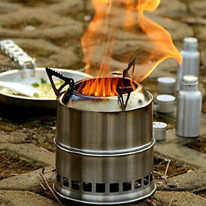 Portable Outdoor Folding Wood Burning Stove for Backpacking Camping Wood Stove