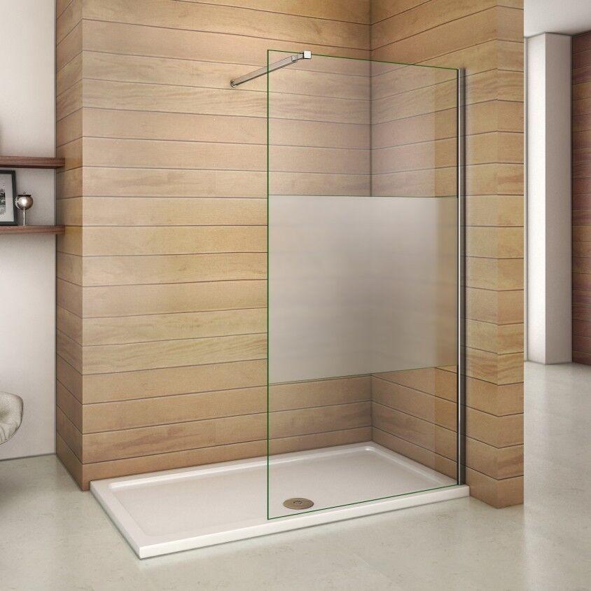 110cm Walk In Sicherheitsglas Glas Dusche Duschwand Duschabtrennung Duschkabine
