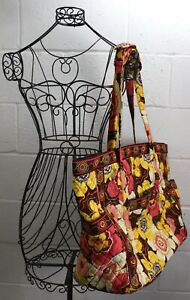 VERA-BRADLEY-Buttercup-Extra-Large-Quilted-Floral-Multi-Color-Tote-Shoulder-Bag