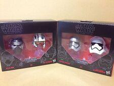 Star Wars Black Series #1 & #2 (WAVE 1) Titanium Die-Cast Helmet Collection NEW