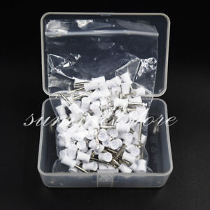 100 Pcs Dental Rubber Prophy Tooth Polish Polishing Cup Brush Latch Type Dentist