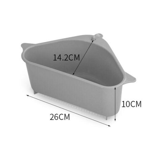 Kitchen Sink Corner Rack Triangle Storage Drain Strainer Holder//Shelf//Container.