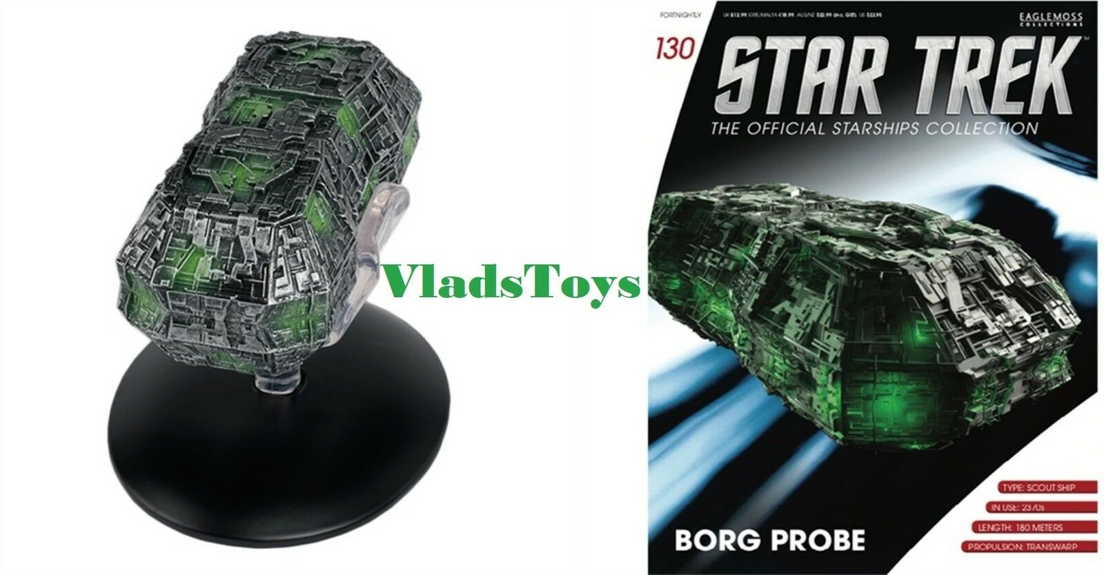 Borg Probe Eaglemoss Star Trek Issue w Magazine