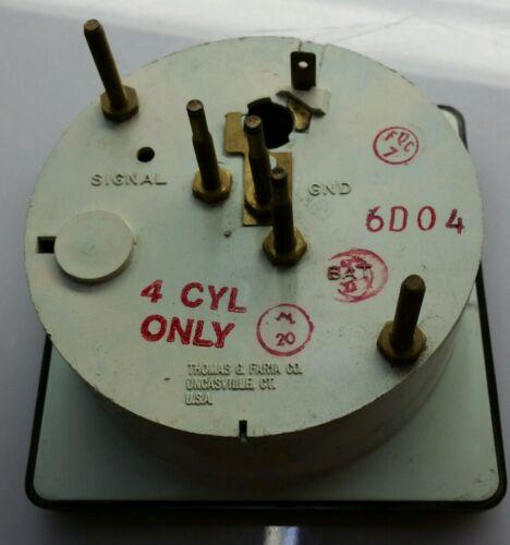 NEW Thomas G Faria Co 6000 RPM TACHOMETER TACH GAUGE 6D04 4 Cyl face US MARINE