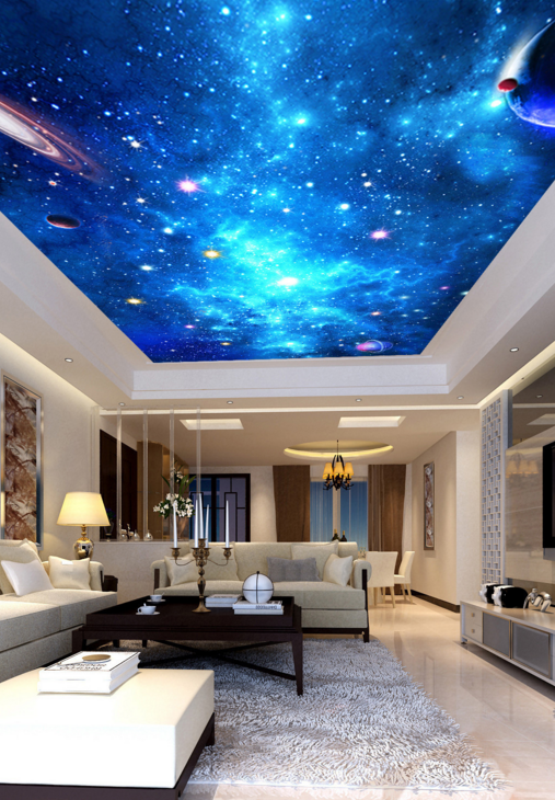 3D Blauer Planet 868 Fototapeten Wandbild Fototapete BildTapete Familie DE Kyra