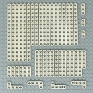 Lego-44x-Genuine-Technic-White-Studless-Beams-Liftarms-Straight-Angular-NEW