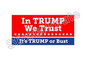 No Trump In 2016 Or Ever Bumper Sticker TRS 160