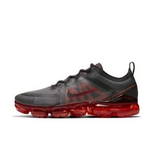 NIKE AIR VAPORMAX 2019 BLACK RED SIZE 8
