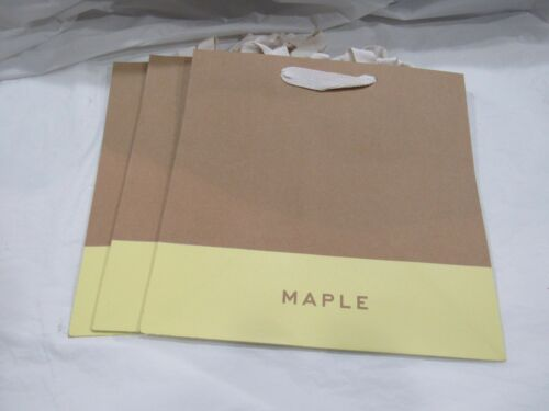 """Word MAPLE on Thick Paper Shopping Gift Bag w//Ribbon Handle 11/"""" H 11.25/"""" W 7/"""" D"""