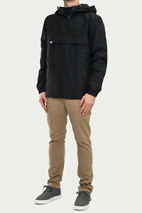 Men Rebell Gr Windbreaker Raincoat Black Hooded n1q7Pqw6x