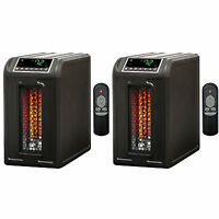 Lifesmart 3 Element 1500w Quartz Infrared Electric Portable Space Heaters (pair) on sale